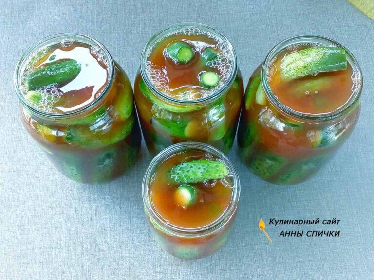 Огурцы с кетчупом чили на литр воды