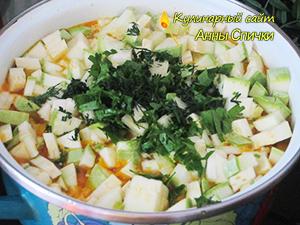 Приготовление кабачкового супа