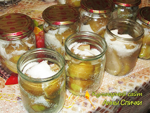 Заготовка груш в сиропе