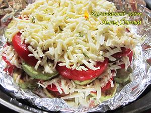 Как приготовить кабачки с помидорами в духовке