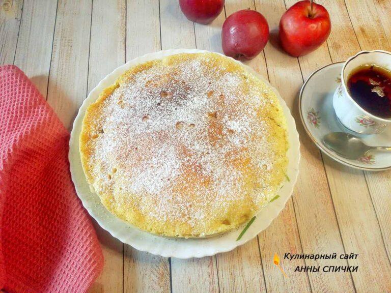 Шарлотка с яблоками в свч печи