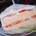 Банановый торт-суфле с бисквитом