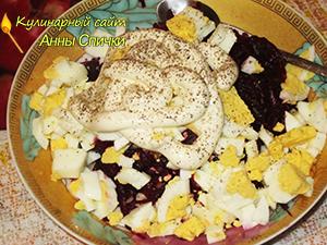 Рецепт салата со свеклой