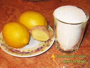 Необходимые ингредиенты для варенья из лимона