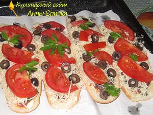 Готовим пиццу в батоне