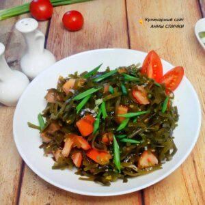 Простой рецепт салата с морской капустой