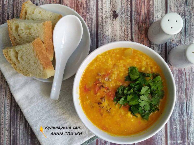 Турецкий чечевичный суп готов