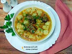 Картофельный соус с уткой