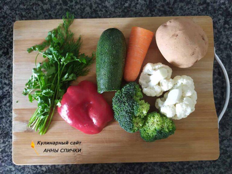 Как приготовить диетический овощной суп