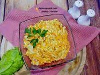Салат из копченого сыра и моркови