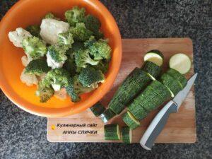Овощи режем и чистим