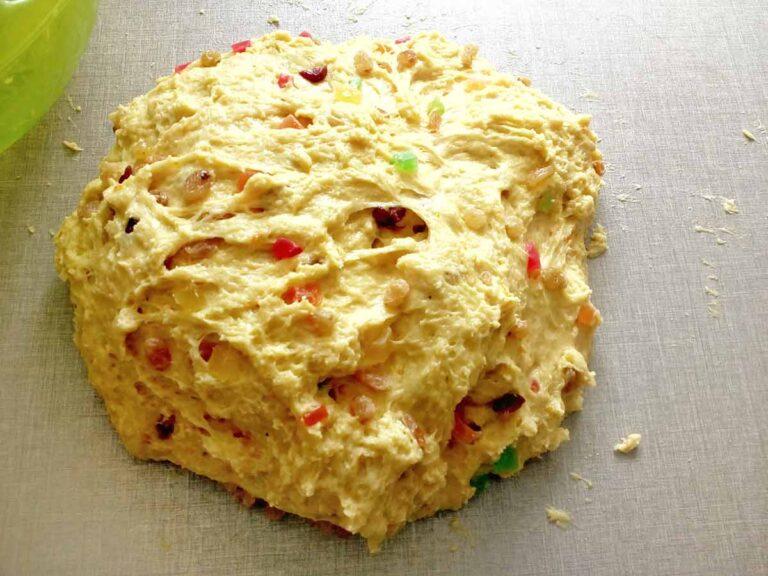 Тесто с сухофруктами и цукатами для куличей