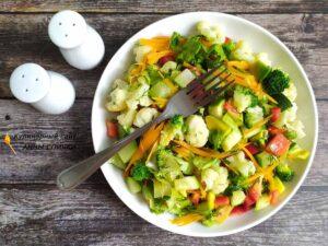 Теплый ПП салат из овощей готов