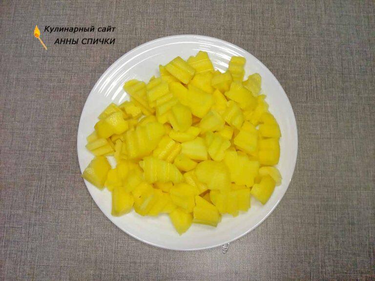 Картофель для грибного супа