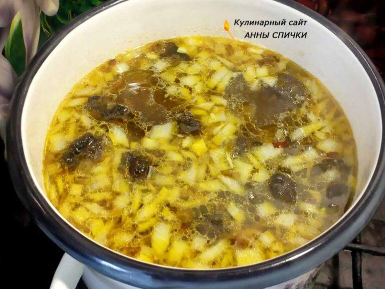 Как приготовить вкусный суп с подберезовиками замороженными и вермишелью