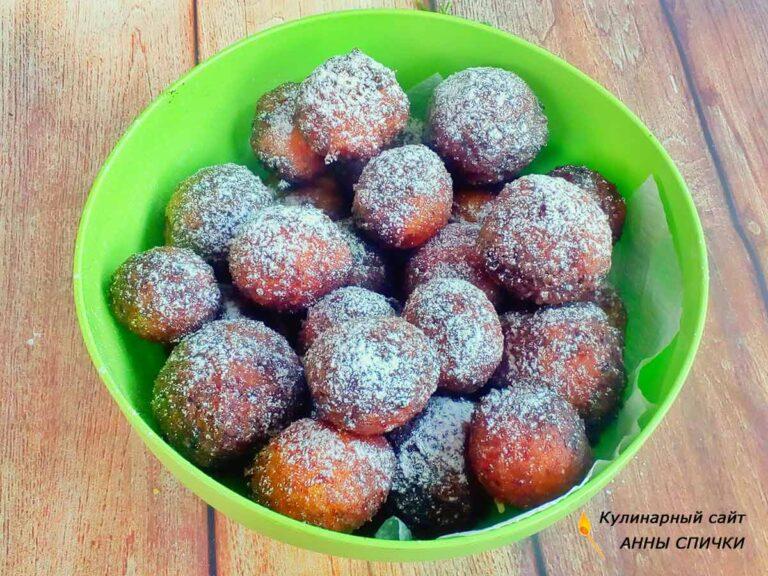 Круглые пончики из творога