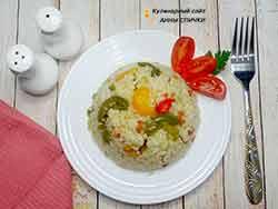 Рис со сладким перцем на гранир