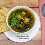 Грибной суп с замороженными подберезовиками и вермишелью