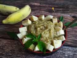 Чиа пудинг с бананом и ананасом
